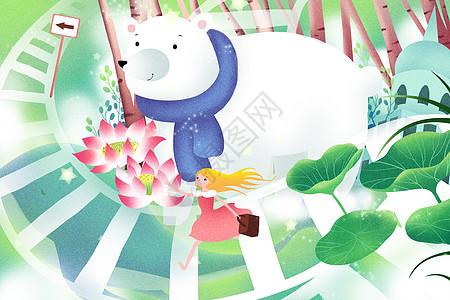 奇幻旅行插画图片