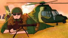 八一建军节军人插画图片