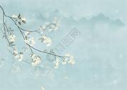 水彩唯美花卉背景图片