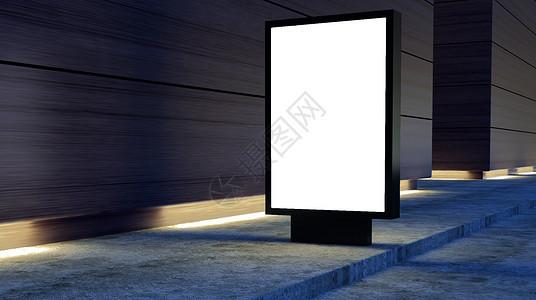 街边广告灯箱样机图片