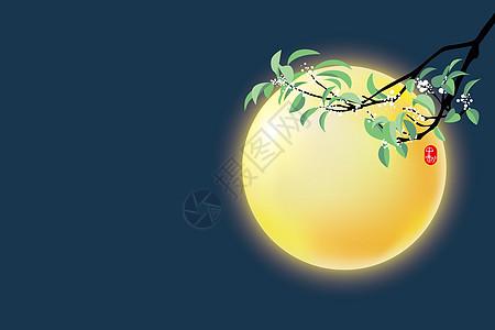 中秋明月背景图片