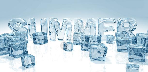 夏季清凉冰块图片