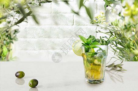 清凉冷饮桌面背景图片