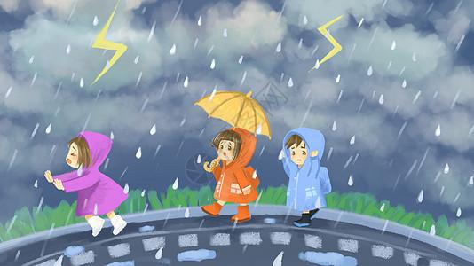 夏季暴雨图片