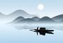 江山渔船图片