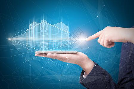 科技线条建筑图片