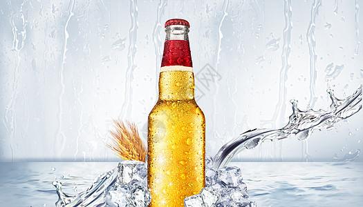 创意冰爽啤酒图片