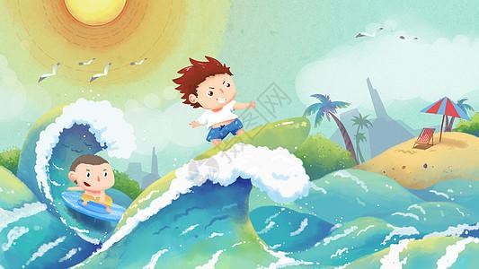 冲浪夏季图片