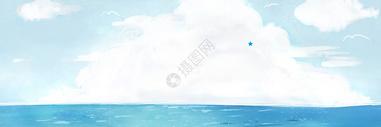 清新海洋背景图片