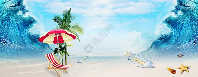 创意清凉沙滩图片