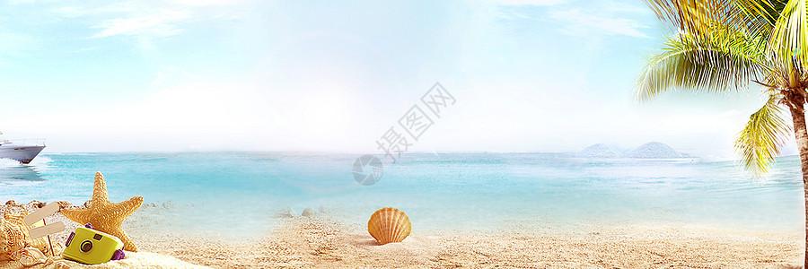 休闲海滩背景图片