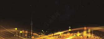 房地产黑金海报背景图片