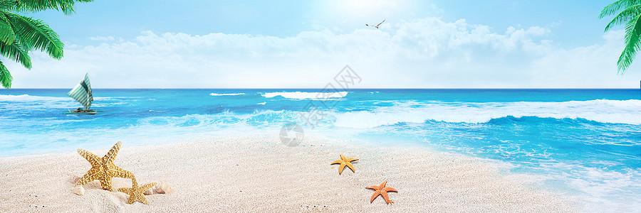 清凉海滩背景图片