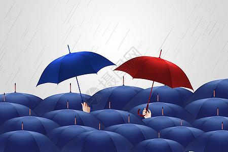 雨中浪漫场景图片