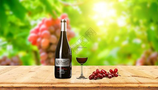创意庄园葡萄酒图片