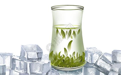 清凉绿茶图片