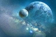 科幻星球与山脉图片