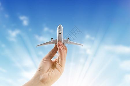 创意飞机旅行图片