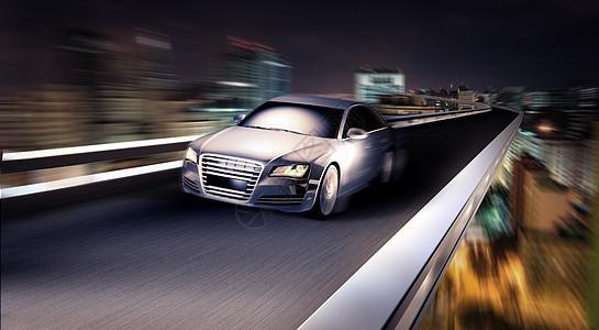 汽车奔驰场景图片