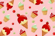 夏日冰淇淋雪糕背景图片