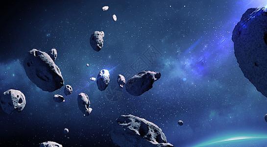 太空陨石碰撞图片