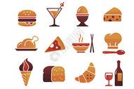 餐饮快餐图标图片