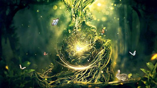 魔幻森林场景图片