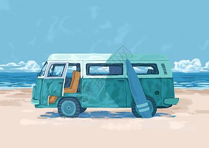 海边汽车图片