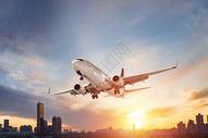 飞机旅行场景图片