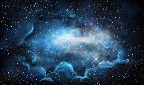 星空银河背景图片