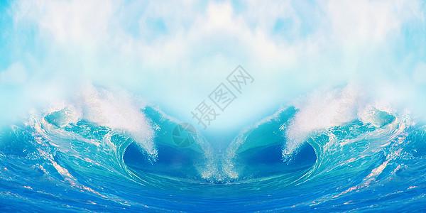海洋波浪背景图片