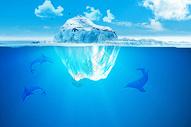 漂浮的冰岛图片