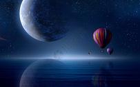 科幻星球场景图片