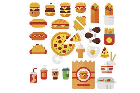 快餐图标图片