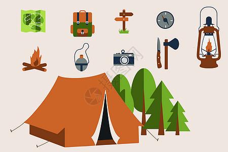 野营用品图标图片