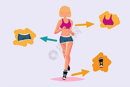跑步健身运动图片