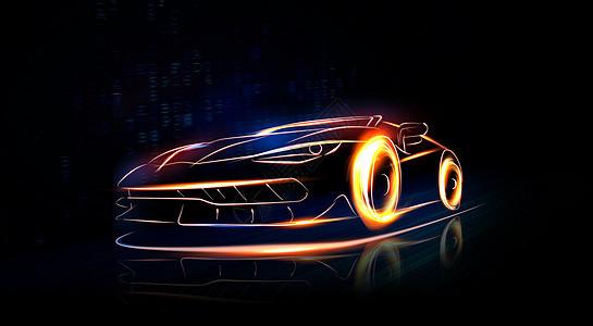 光线炫酷跑车图片