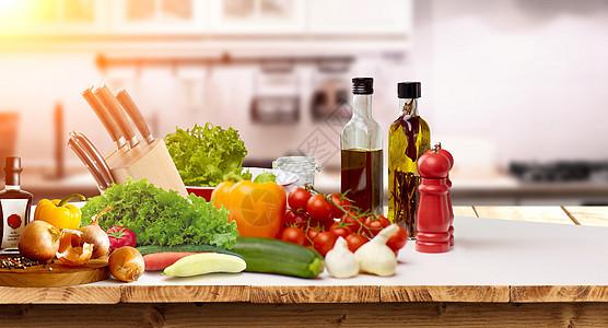 厨房美食背景图片