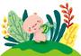 夏日小猪猪图片