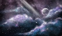 星空月亮唯美背景图片