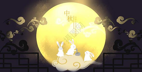 中秋月夜图片