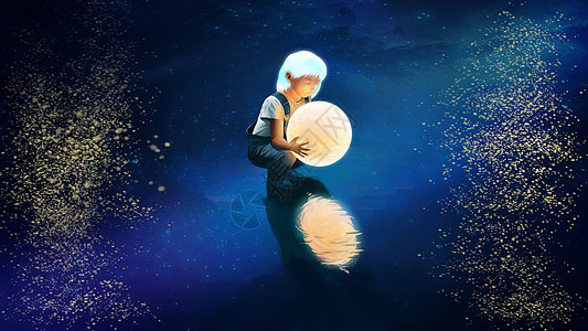 月亮女孩图片