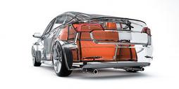 透明汽车结构场景图片