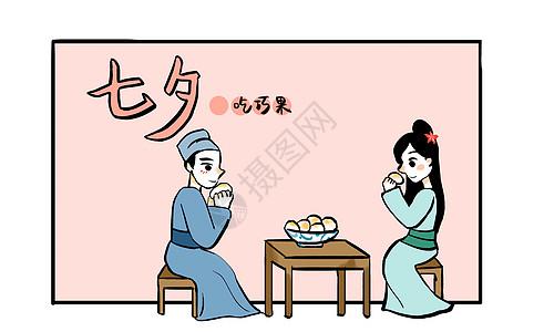 七夕之吃巧果图片
