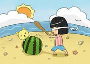 夏日海边游玩图片