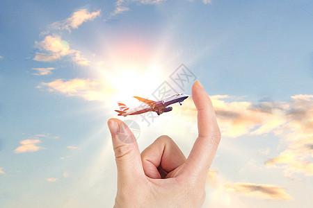 手指间的飞机图片