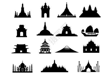 景点建筑图标图片