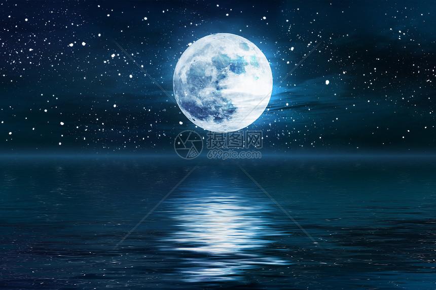 浪漫圆月图片