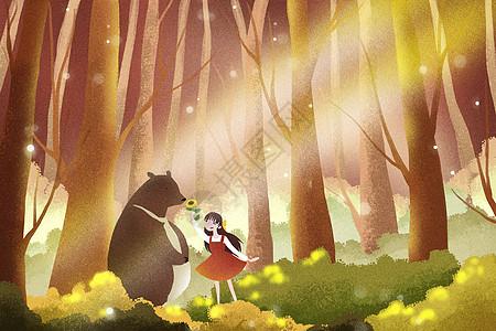 森林里的秋天图片