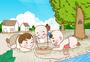 童年记忆夏日孩童们斗蛐蛐手绘原创插画图片